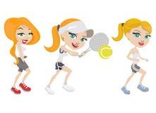 De meisjes van de sport Royalty-vrije Stock Afbeeldingen