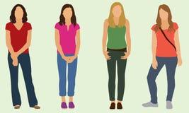De Meisjes van de tiener Stock Afbeeldingen