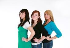 De meisjes van de tiener modellering Stock Foto