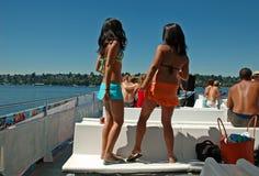 De Meisjes van de Tijd van de zomer stock foto's