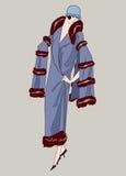 De meisjes van de vin (jaren '20stijl): Retro manierpartij royalty-vrije illustratie