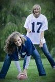 De Meisjes van de voetbal stock afbeelding