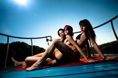 De meisjes van de zomer Royalty-vrije Stock Afbeelding