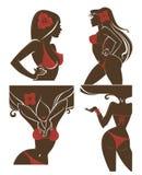De Meisjes van de zomer vector illustratie