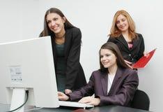 De meisjes van het bureau stock foto