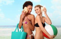 De Meisjes van het strand Royalty-vrije Stock Foto's