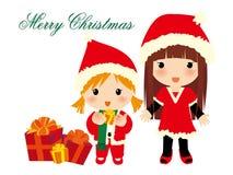 De meisjes van Kerstmis Royalty-vrije Stock Foto