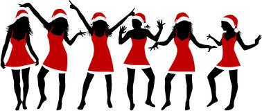 De Meisjes van Kerstmis Stock Afbeelding