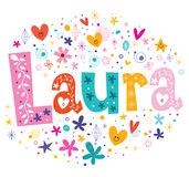 De meisjes van Laura noemen stock illustratie