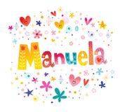 De meisjes van Manuela noemen vector illustratie