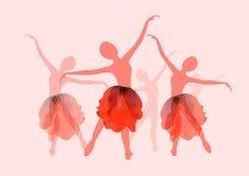 De meisjes van Nice het dansen ballet vector illustratie