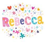 De meisjes van Rebecca noemen royalty-vrije illustratie