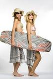 De meisjes van Surfer Stock Fotografie
