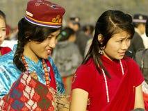 De Meisjes van Tamang Stock Afbeeldingen