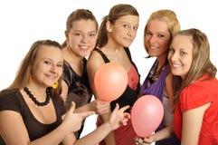 De meisjes zijn gelukkig in de school Royalty-vrije Stock Foto