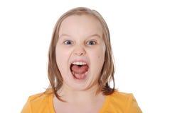 De meisjeschreeuwen Royalty-vrije Stock Afbeelding