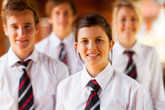 De meisjesjongens van de school Stock Fotografie