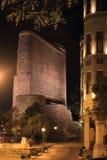 De Meisjetoren in Baku stad Royalty-vrije Stock Foto