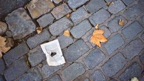 De melancholie van de herfst De dalingen van de regen op de ruit royalty-vrije stock foto's