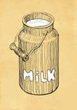 De melk kan Stock Afbeelding