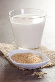 De melk van de rijst royalty-vrije stock fotografie