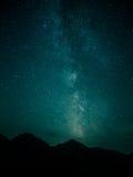 De Melkweg boven Tatra-bergen Stock Afbeelding