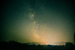 De Melkweg boven Tatra-bergen Royalty-vrije Stock Fotografie