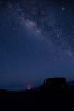 De Melkweg, Mauna Kea, Hawaï Stock Afbeelding
