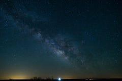 De Melkweg in Noordelijk Texas Royalty-vrije Stock Foto