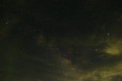 De Melkweg is onze melkweg Dit lange blootstellings astronomische pho Royalty-vrije Stock Afbeeldingen