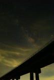 De Melkweg is onze melkweg Dit lange blootstellings astronomische pho Royalty-vrije Stock Foto's