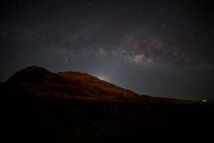 De Melkwegstijgingen boven Makapu& x27; u Punt stock afbeeldingen