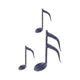 De melodiesymbool van de tekeningsmuzieknoot Stock Foto