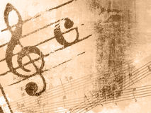 De melodietexturen en achtergronden van Grunge royalty-vrije illustratie