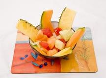 De Meloen en de Ananas van het water stock afbeeldingen