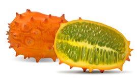 De meloen van Kiwano Stock Foto's