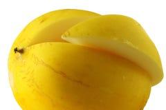 De meloen was rijp en sappig Stock Foto's