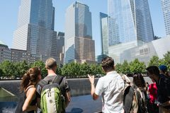 9/11 de memorial no Lower Manhattan em NYC Fotografia de Stock Royalty Free