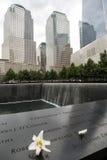 9/11 de memorial no World Trade Center, ponto zero Fotografia de Stock