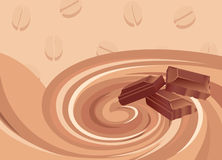 De mengeling van de chocolade en koffieontbijt Royalty-vrije Stock Foto's