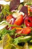 De mengeling van de salade met kwartelseieren Stock Foto