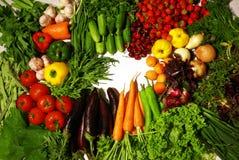 De mengeling van groenten op wit Royalty-vrije Stock Afbeeldingen