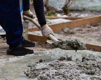 De mengeling van het cement Stock Fotografie