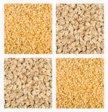 De Mengeling van het graangewas van Rogge en Ongepelde rijst Royalty-vrije Stock Foto