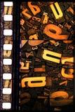 De mengeling van letters en getallen Stock Foto