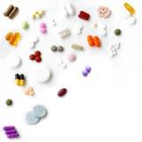 De mengeling van pillen royalty-vrije stock foto's