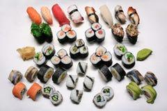 De mengeling van sushi Stock Afbeeldingen