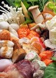 De mengelingsgroente van Sukiyaki Stock Afbeelding