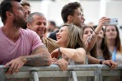 De menigte bij Festival DE les Arts Stock Foto
