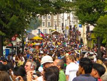 De menigte Londen Engeland van Carnaval van de Nottingsheuvel royalty-vrije stock foto